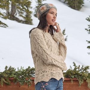 Sundance Newbury Pullover in Natural - XS